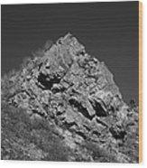 Pyramid Of Rock Wood Print