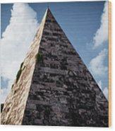 Pyramid Of Rome II Wood Print