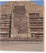 Pyramid Of The Moon Panorama Wood Print
