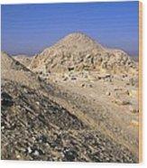 Pyramid Of Unas. 2375 -2345 Bc. Egypt Wood Print