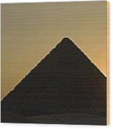 Pyramids At Dusk Wood Print