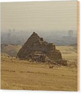 Pyramids Of Giza 12 Wood Print