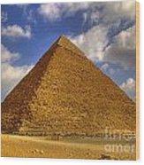 Pyramids Of Giza 28 Wood Print