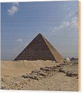 Pyramids Of Giza 30 Wood Print