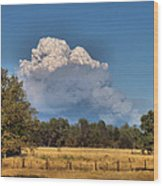 Pyrocumulus Cloud 08 18 12 Wood Print