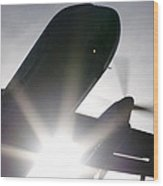 Q400 Silhouette Wood Print