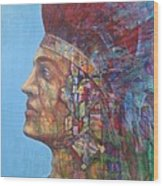 Qu-say-u Anasazi Warrior Wood Print
