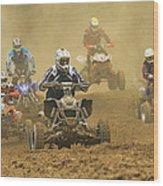 Quad Race Wood Print