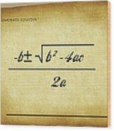Quadratic Equation - Aged Wood Print