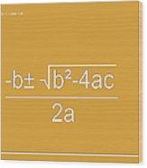 Quadratic Equation Orange-white Wood Print
