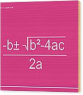 Quadratic Equation Wood Print