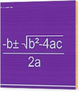 Quadratic Equation Violet-white Wood Print