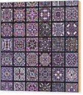 Quadtiles Three Dingbat Quilt Wood Print