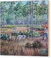 Quail Hunting...a Southern Tradition. Wood Print