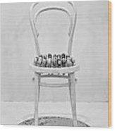 Quails Eggs On A Chair Wood Print