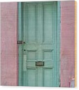 Quaint Little Door In The Quarter Wood Print