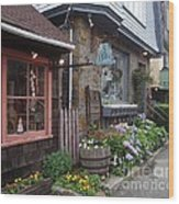 Quaint Rockport Wood Print
