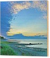 Qualicum Beach Clouds Wood Print