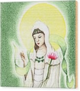 Quan Yin Wood Print