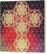 Quantum Cross Hand Drawn Wood Print by Jason Padgett
