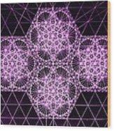Quantum Snowfall Wood Print