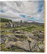 Quarry Cottages Wood Print