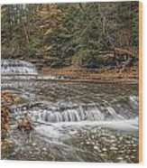 Quarry Rock Falls Wood Print