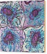 Quatro Floral - 11ac04 Wood Print