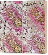 Quatro Floral - 22a Wood Print