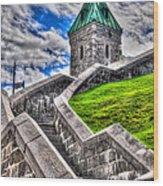 Quebec City Fortress Gates Wood Print