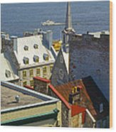 Quebec Lower Town Wood Print
