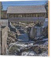 Quechee Covered Bridge Wood Print