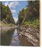 Quechee Gorge Wood Print