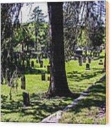 Quechee Vermont Cemetary Wood Print