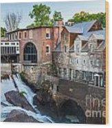 Quechee Village Mill Wood Print