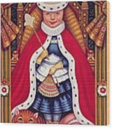 Queen Alice, 2008 Oil And Tempera On Panel Wood Print