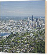 Queen Anne Hill, Lake Union, City Wood Print