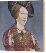 Queen Anne Of Hungary And Bohemia Wood Print
