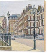 Queen Annes Gate Oil On Canvas Wood Print