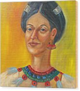 Queen Centehua Wood Print by Lilibeth Andre