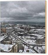 Queen City Winter Wonderland After The Storm Series 0011 Wood Print