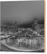 Queen City Winter Wonderland After The Storm Series 0018a Wood Print