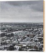 Queen City Winter Wonderland After The Storm Series 002 Wood Print