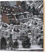 Queen City Winter Wonderland After The Storm Series 0028b Wood Print