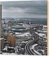Queen City Winter Wonderland After The Storm Series 006 Wood Print