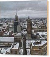 Queen City Winter Wonderland After The Storm Series 007 Wood Print