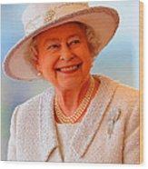 Queen Elizabeth II Portrait 100-028 Wood Print