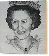 Queen Elizabeth II Wood Print