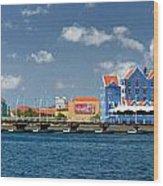 Queen Emma Bridge Open Curacao Wood Print