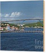 Queen Juliana Bridge  Queen Emma Bridge Curacao Wood Print